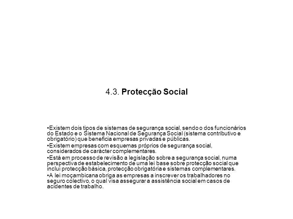 4.3. Protecção Social
