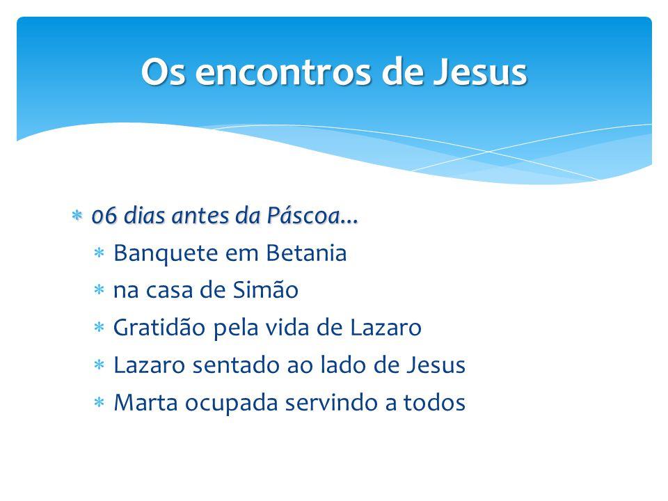 Os encontros de Jesus 06 dias antes da Páscoa... Banquete em Betania