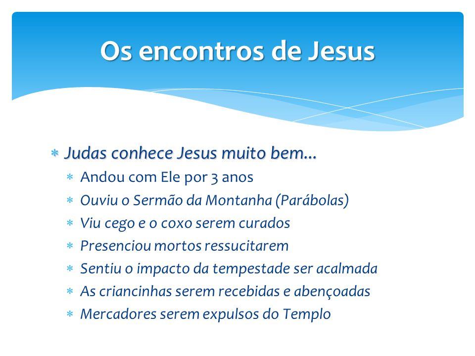 Os encontros de Jesus Judas conhece Jesus muito bem...
