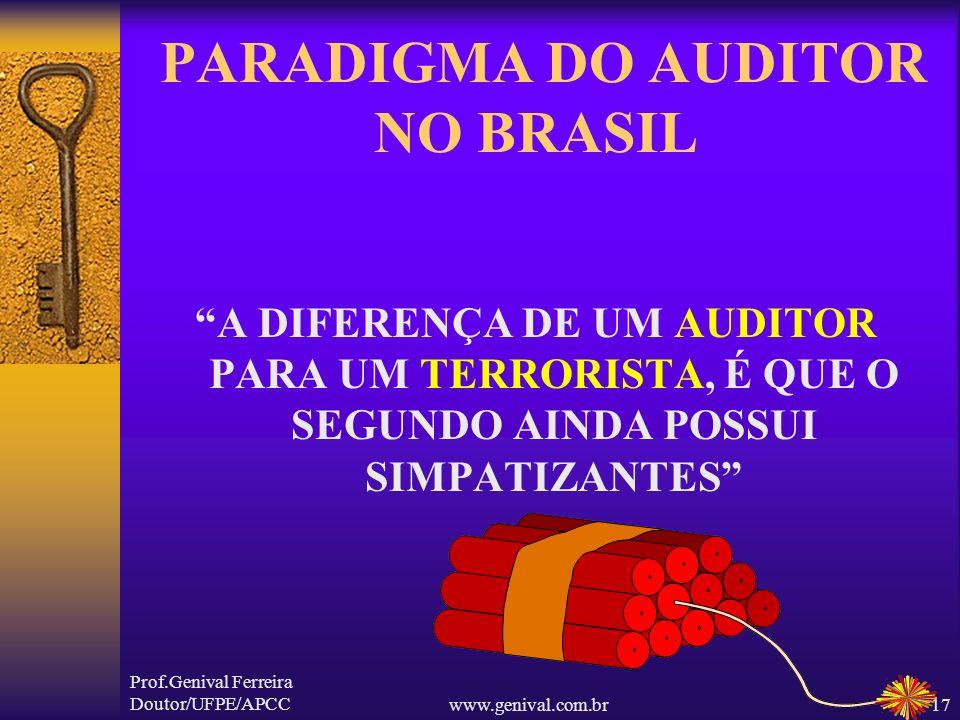 PARADIGMA DO AUDITOR NO BRASIL