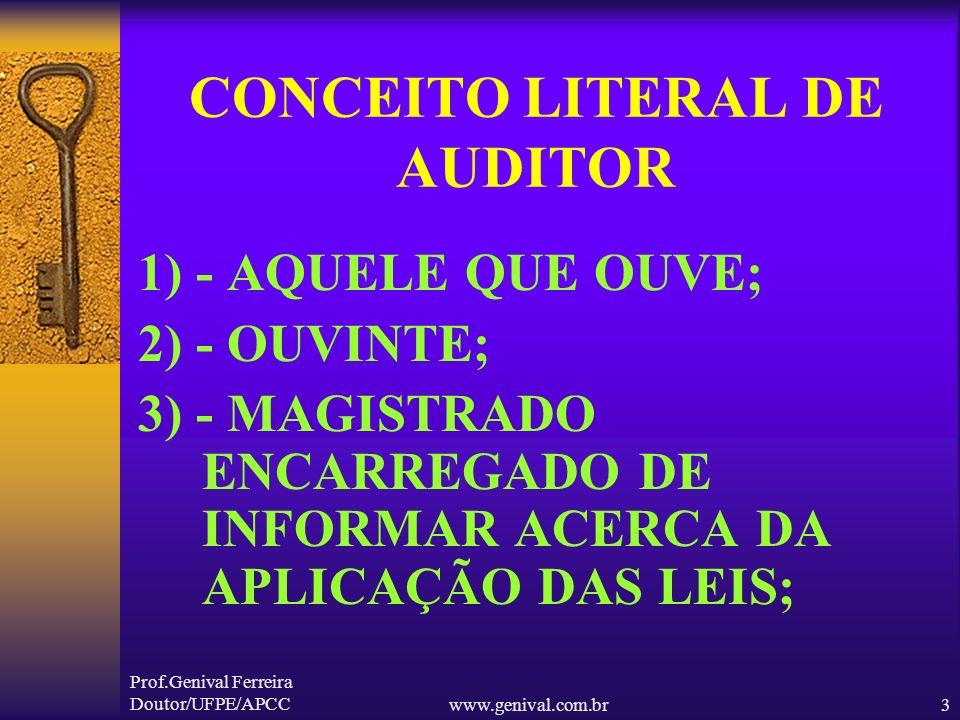 CONCEITO LITERAL DE AUDITOR