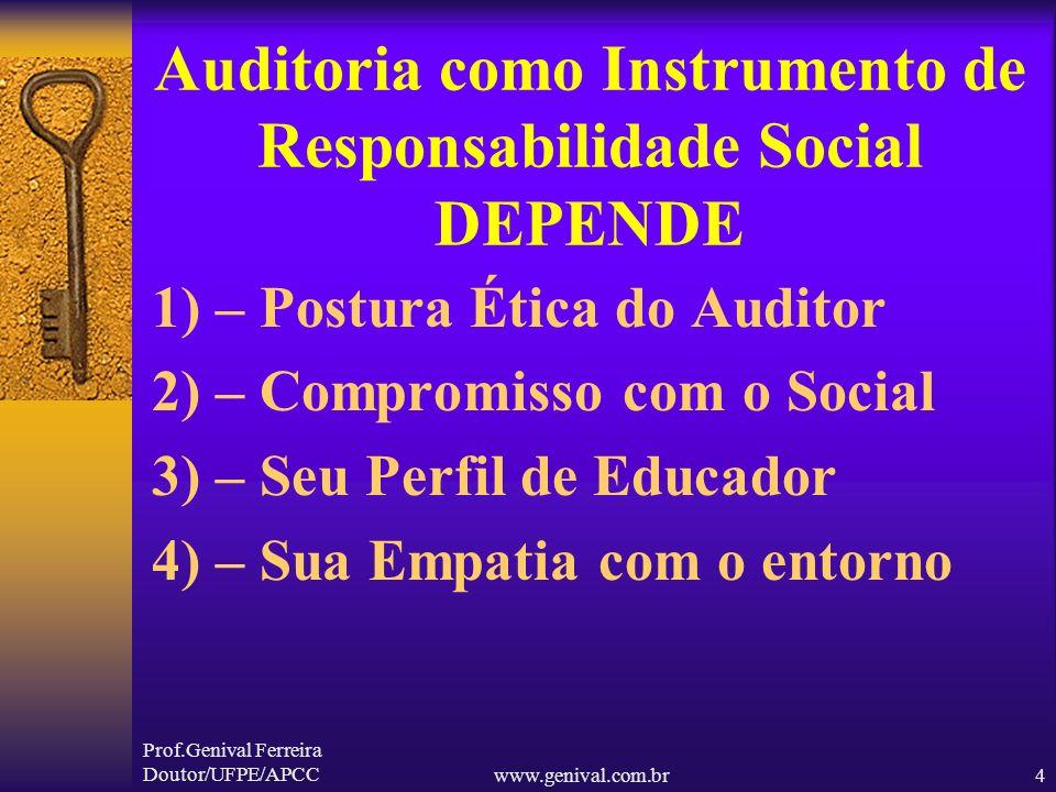 Auditoria como Instrumento de Responsabilidade Social DEPENDE