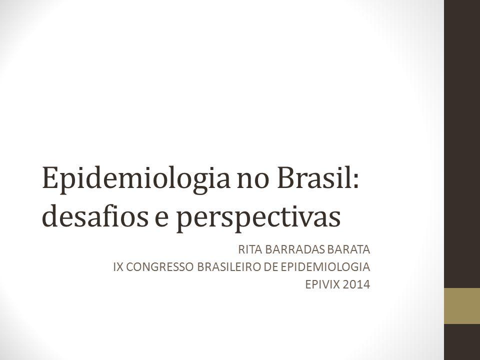 Epidemiologia no Brasil: desafios e perspectivas