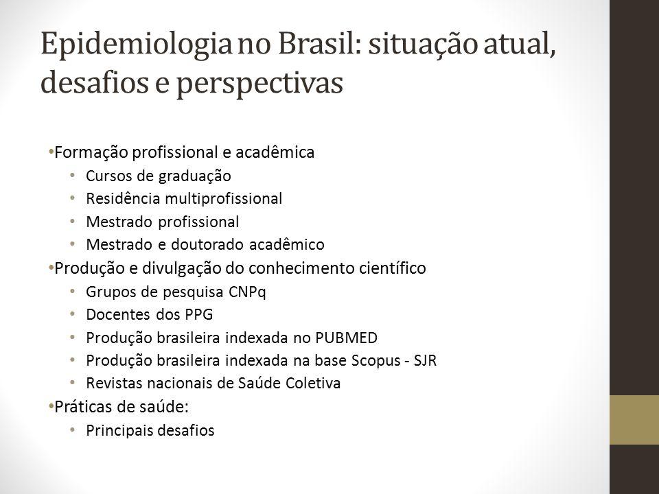 Epidemiologia no Brasil: situação atual, desafios e perspectivas