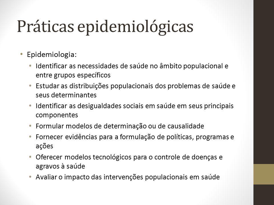 Práticas epidemiológicas