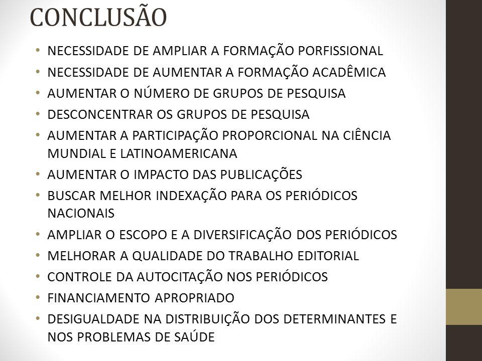 CONCLUSÃO NECESSIDADE DE AMPLIAR A FORMAÇÃO PORFISSIONAL