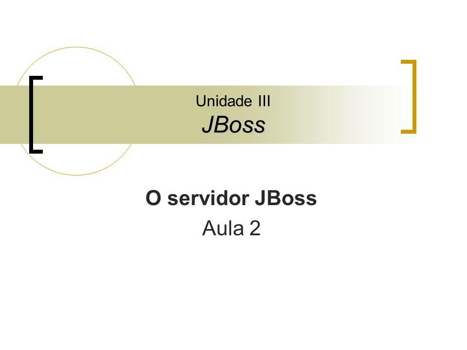 Unidade III JBoss O servidor JBoss Aula 2