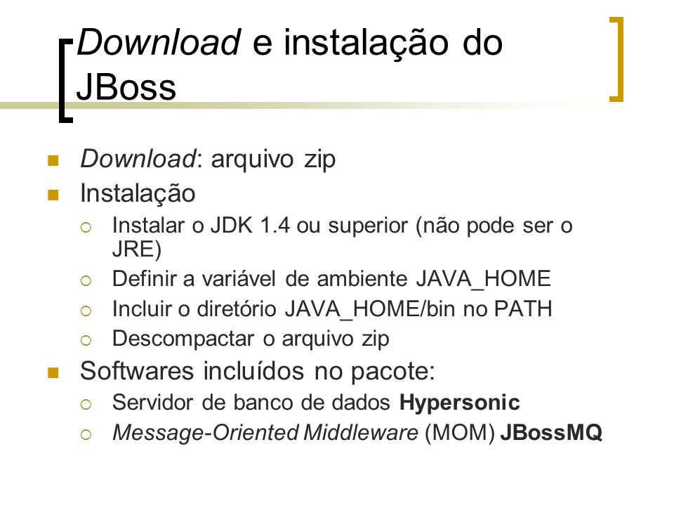 Download e instalação do JBoss