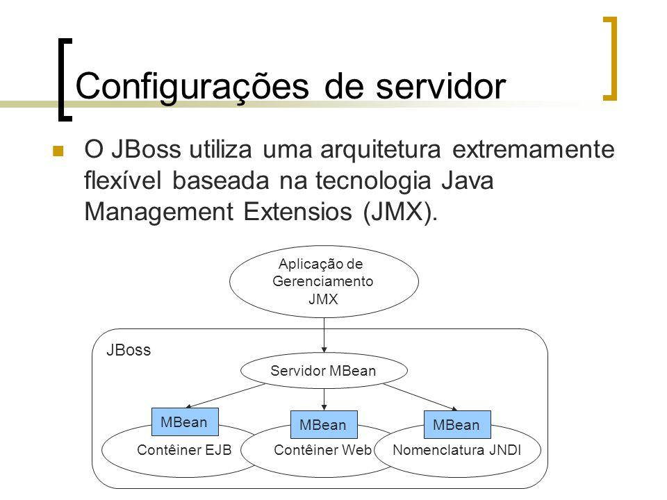 Configurações de servidor