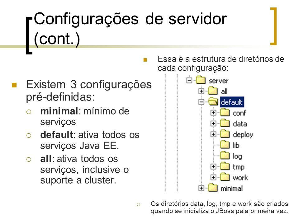 Configurações de servidor (cont.)