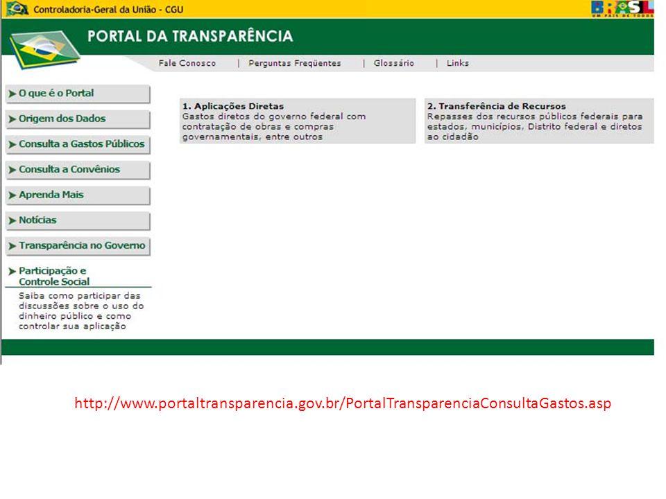 http://www. portaltransparencia. gov