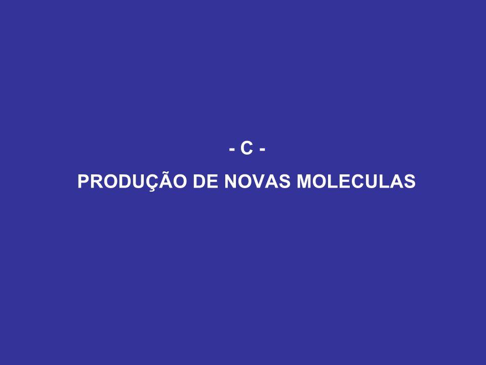 - C - PRODUÇÃO DE NOVAS MOLECULAS
