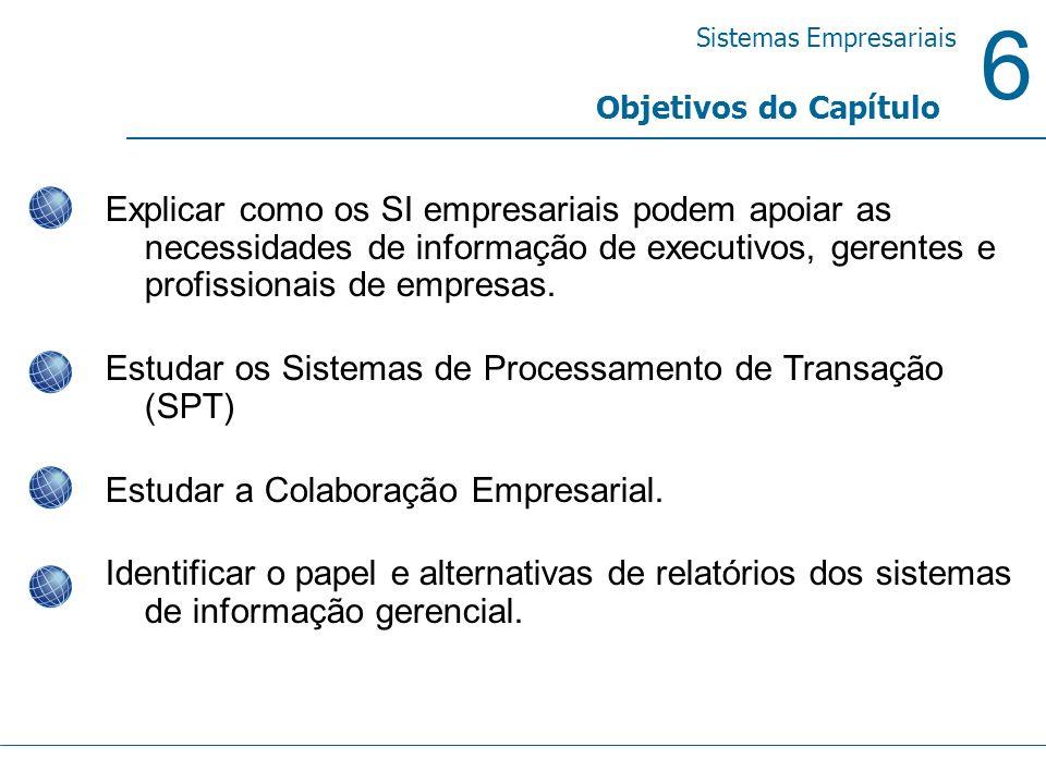Estudar os Sistemas de Processamento de Transação (SPT)