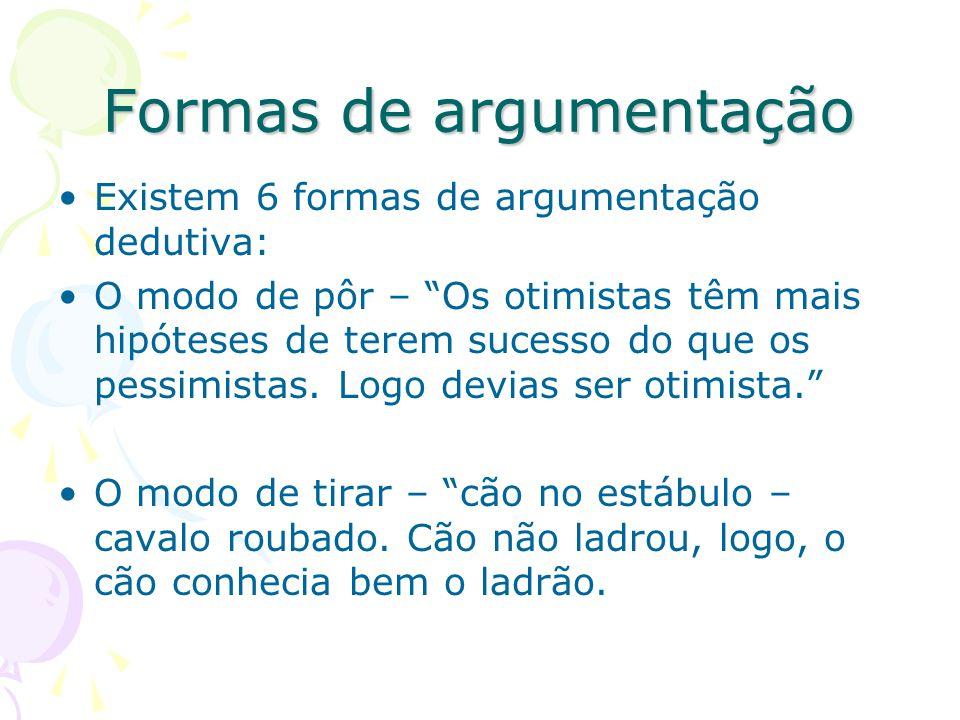 Formas de argumentação