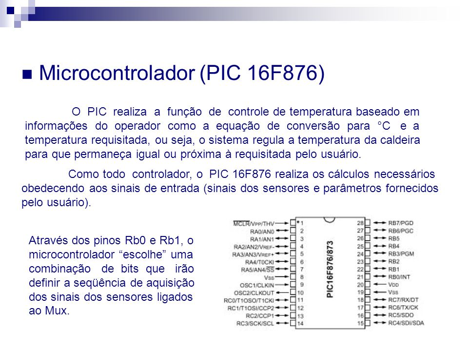 Microcontrolador (PIC 16F876)