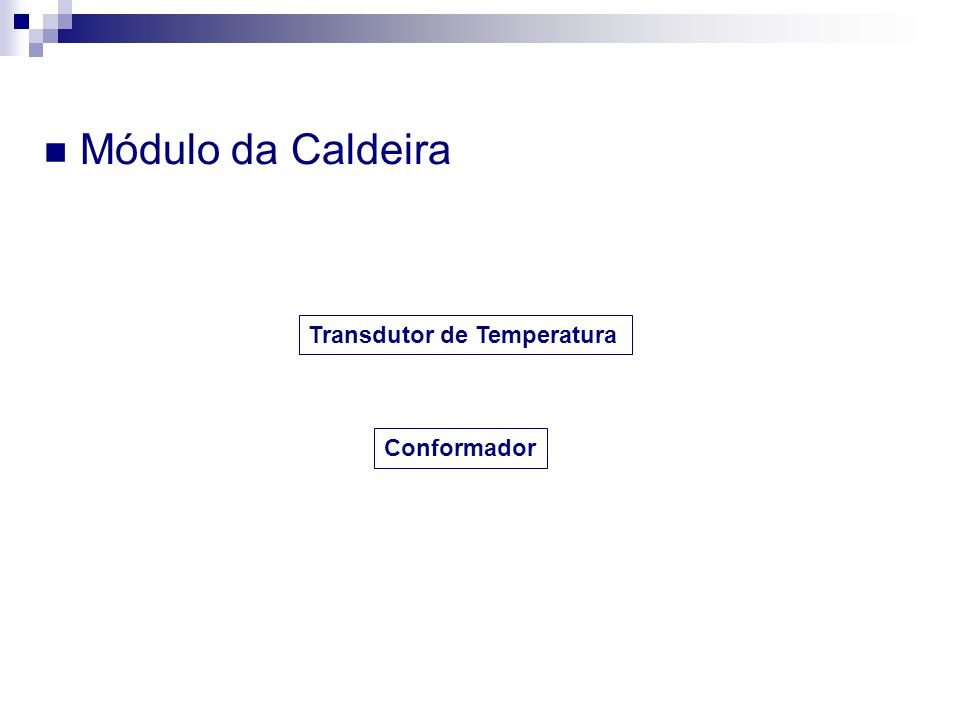 Módulo da Caldeira Transdutor de Temperatura Conformador