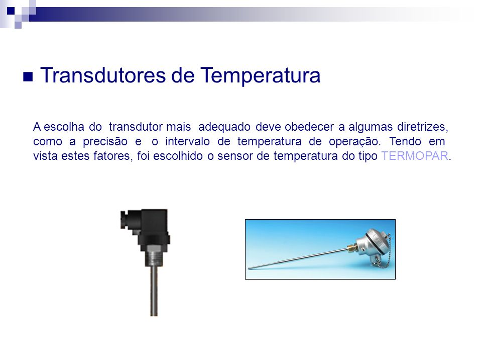 Transdutores de Temperatura