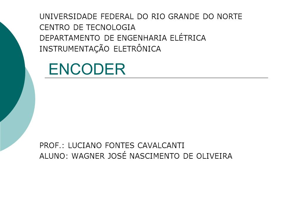ENCODER UNIVERSIDADE FEDERAL DO RIO GRANDE DO NORTE