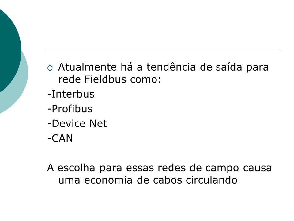 Atualmente há a tendência de saída para rede Fieldbus como: