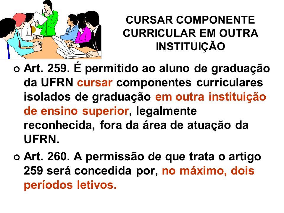 CURSAR COMPONENTE CURRICULAR EM OUTRA INSTITUIÇÃO