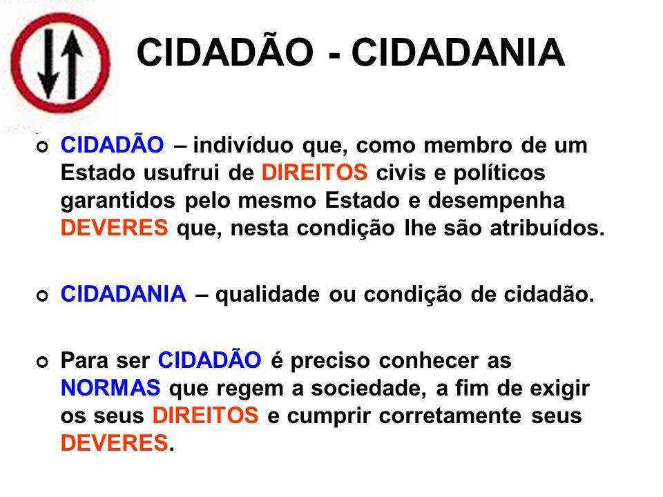 CIDADÃO - CIDADANIA