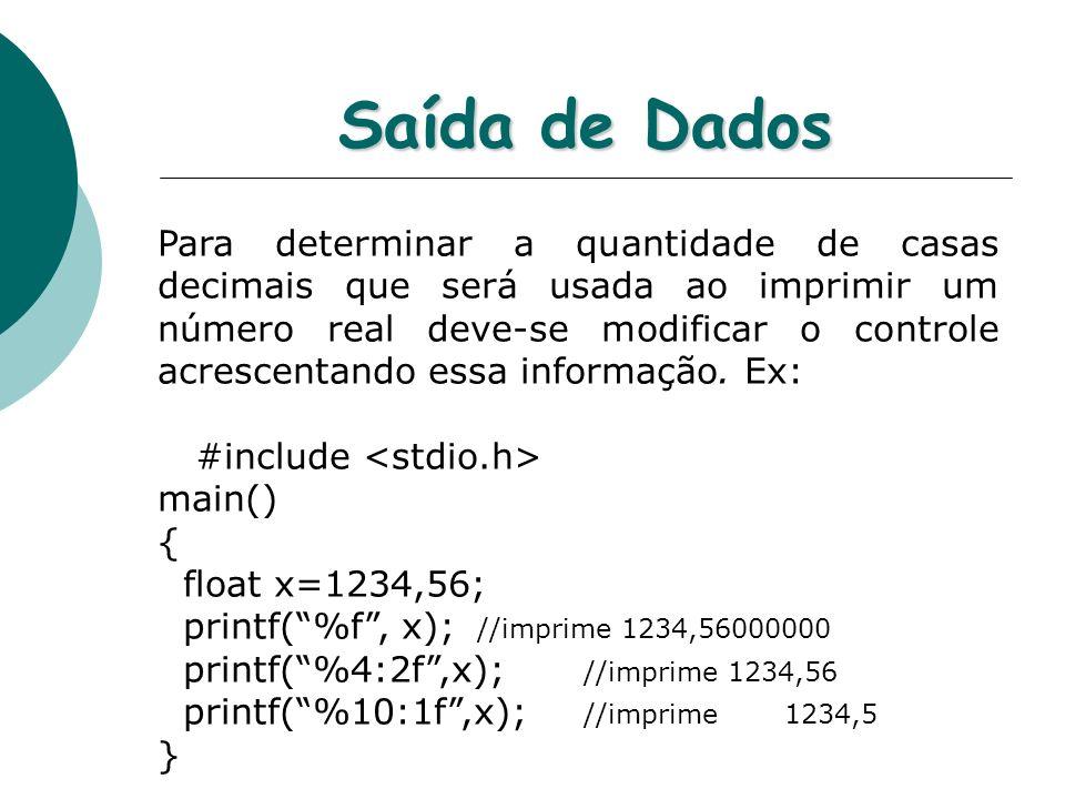 Saída de Dados