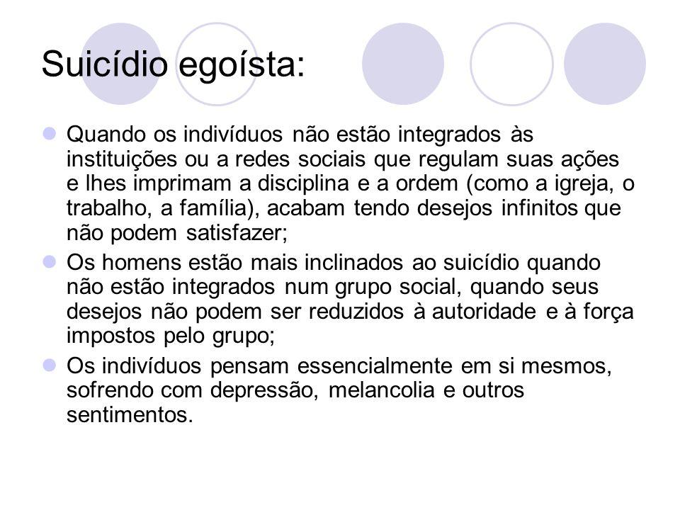 Suicídio egoísta: