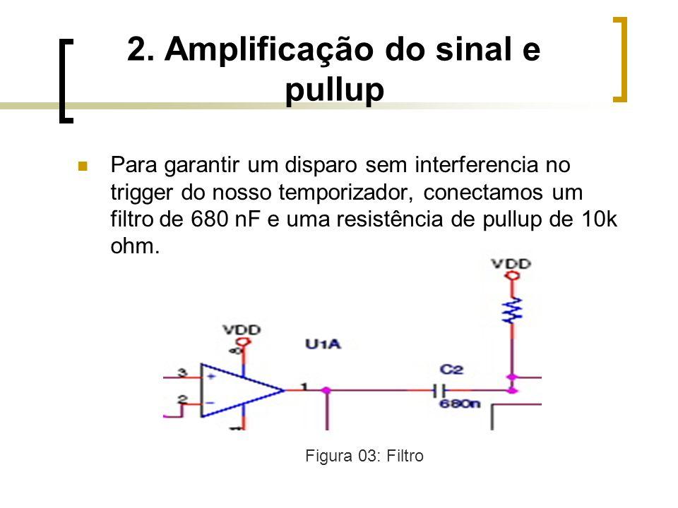 2. Amplificação do sinal e pullup
