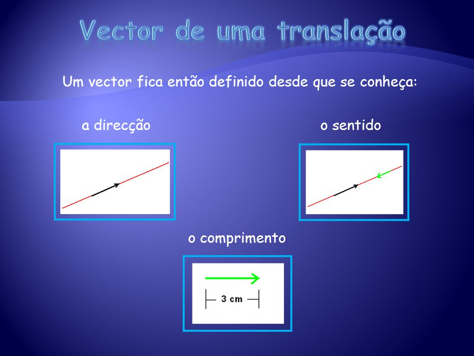 Vector de uma translação