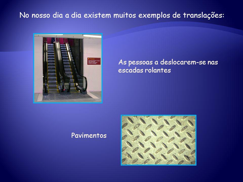 No nosso dia a dia existem muitos exemplos de translações: