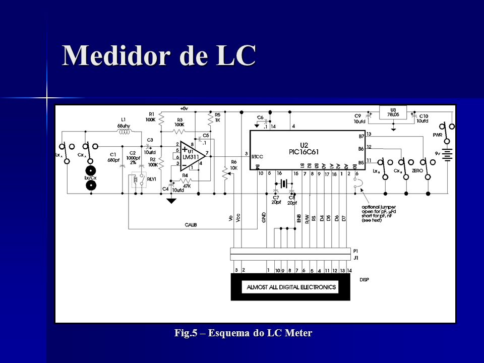 Medidor de LC Fig.5 – Esquema do LC Meter