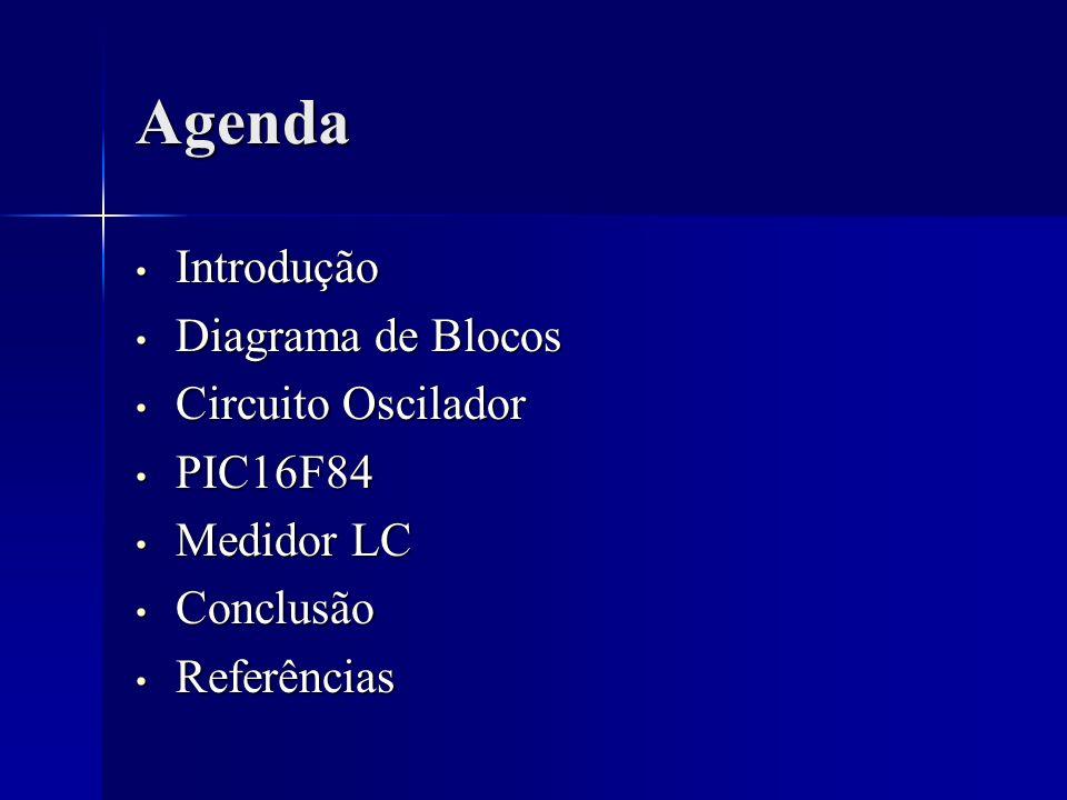 Agenda Introdução Diagrama de Blocos Circuito Oscilador PIC16F84