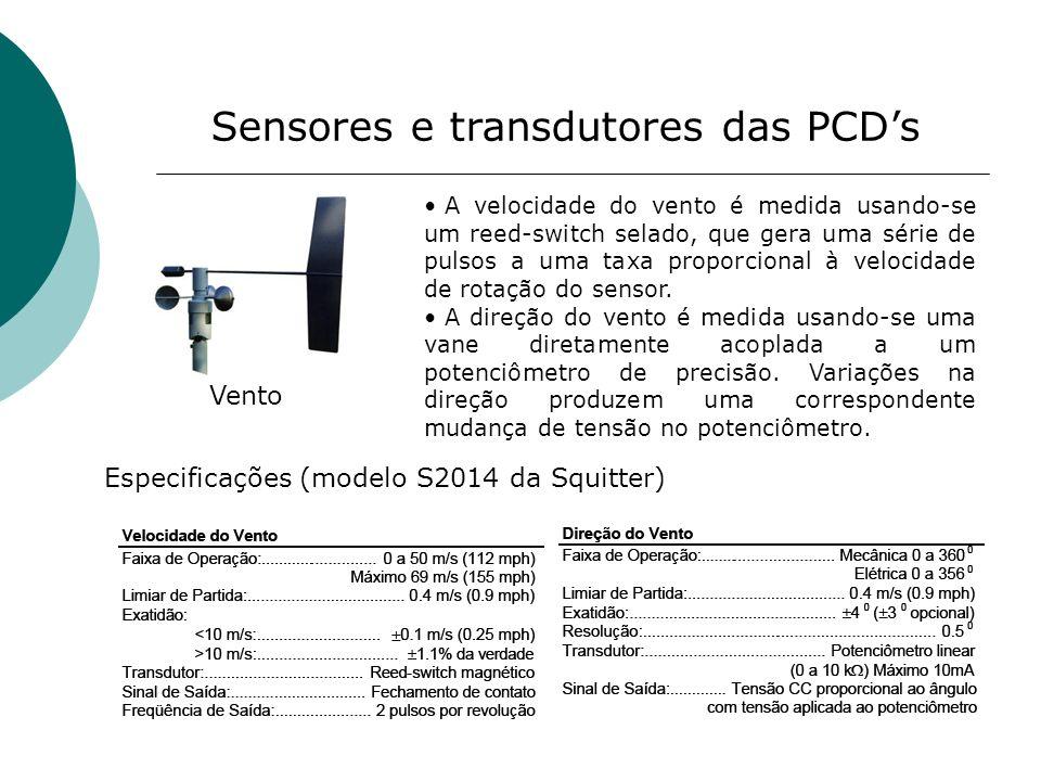Sensores e transdutores das PCD's
