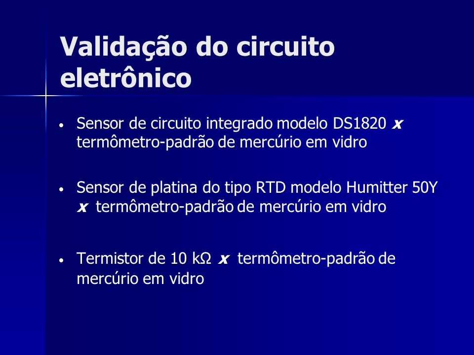 Validação do circuito eletrônico