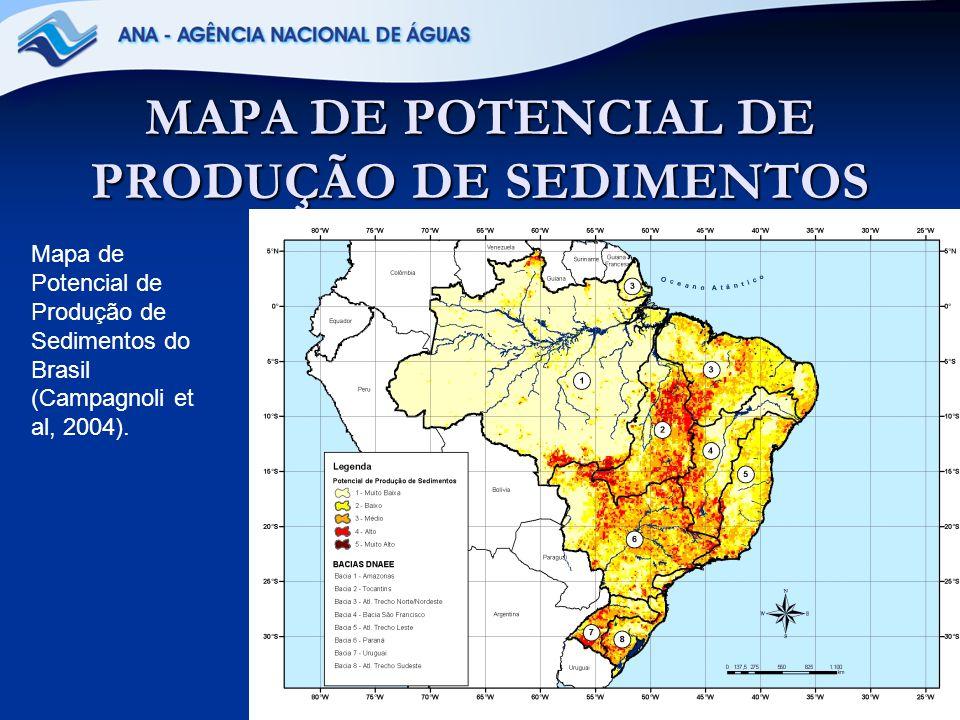 MAPA DE POTENCIAL DE PRODUÇÃO DE SEDIMENTOS