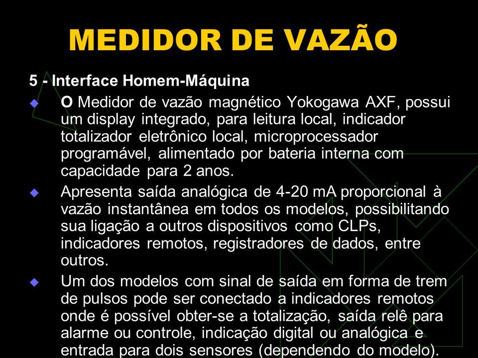 MEDIDOR DE VAZÃO 5 - Interface Homem-Máquina
