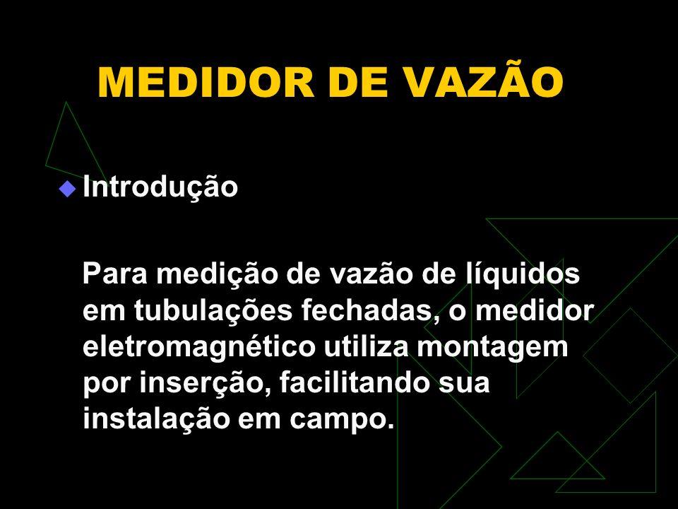 MEDIDOR DE VAZÃO Introdução