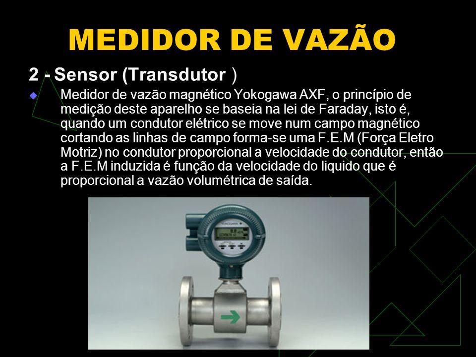 MEDIDOR DE VAZÃO 2 - Sensor (Transdutor )