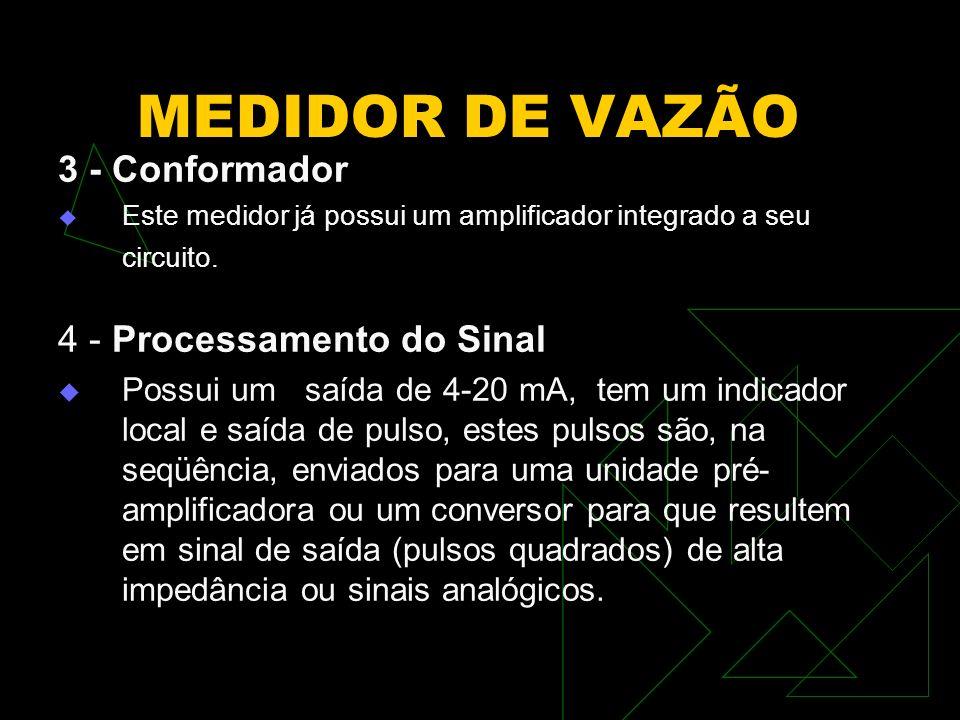 MEDIDOR DE VAZÃO 3 - Conformador 4 - Processamento do Sinal