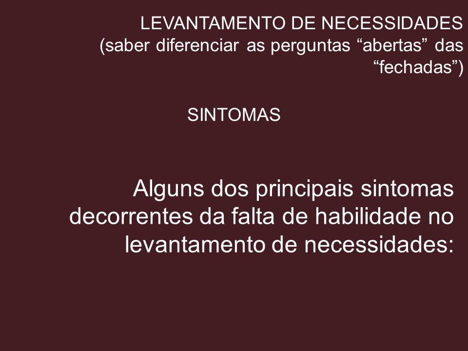 LEVANTAMENTO DE NECESSIDADES