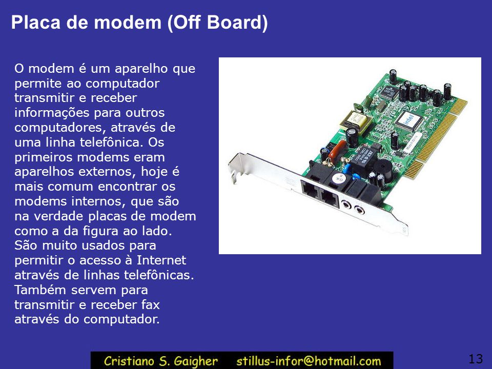 Placa de modem (Off Board)