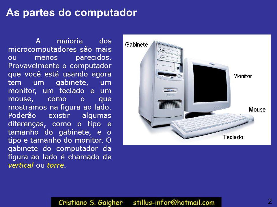 As partes do computador