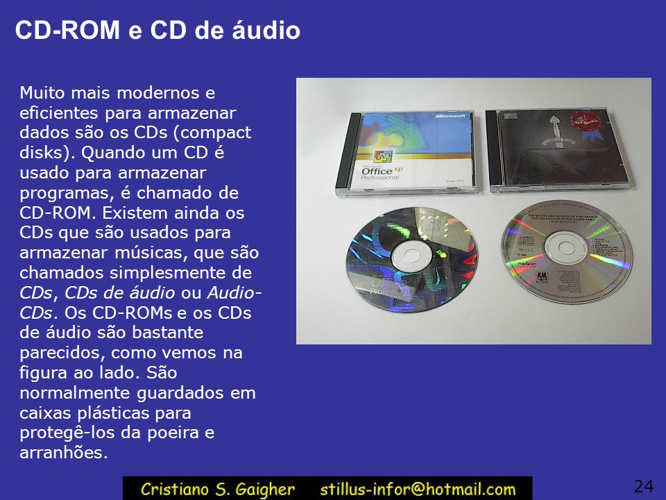 CD-ROM e CD de áudio