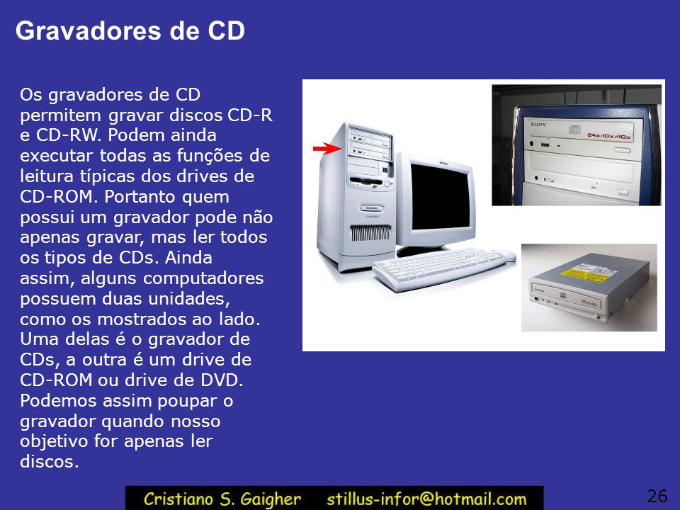 Gravadores de CD