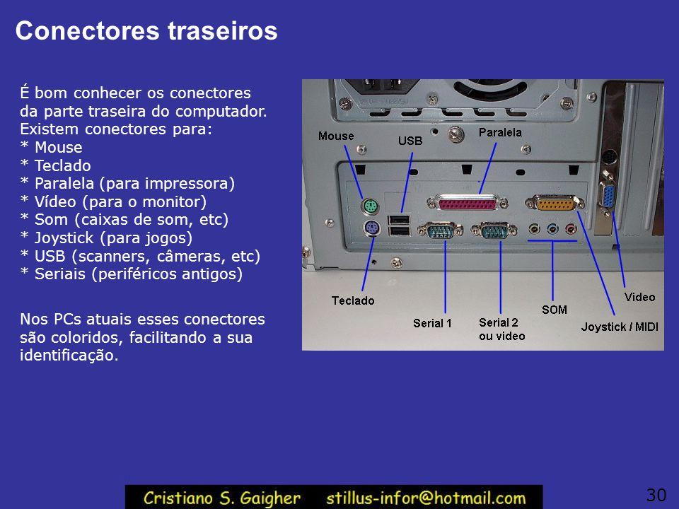 Conectores traseiros