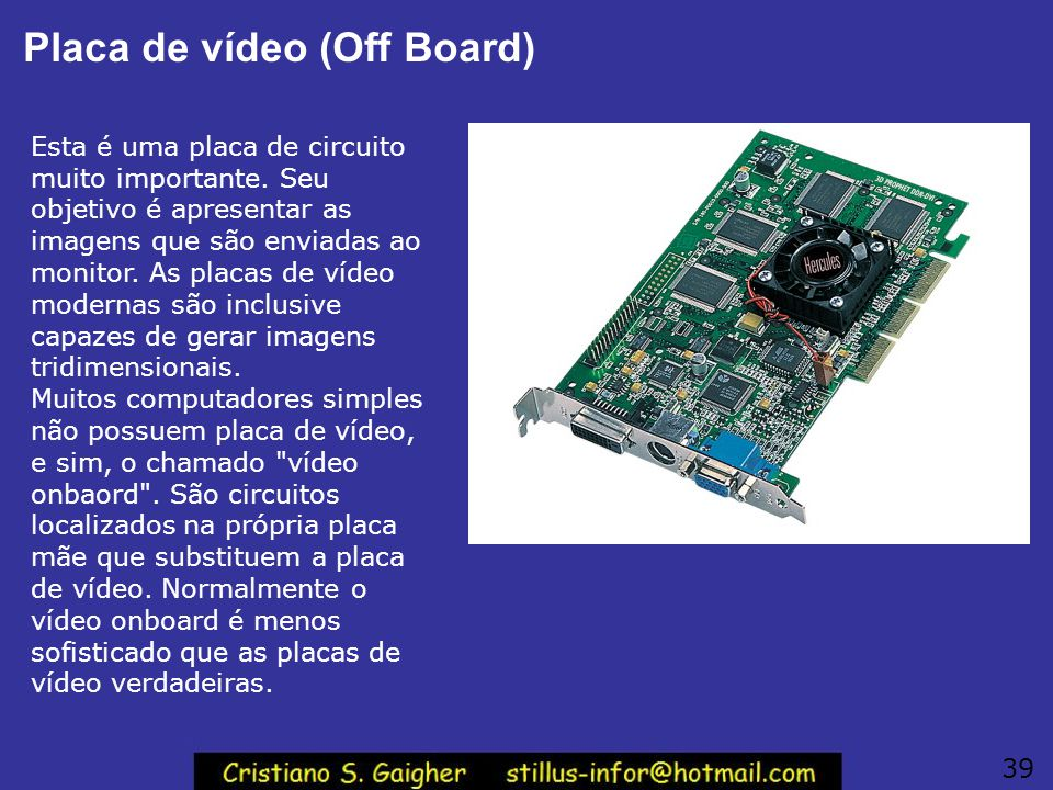 Placa de vídeo (Off Board)