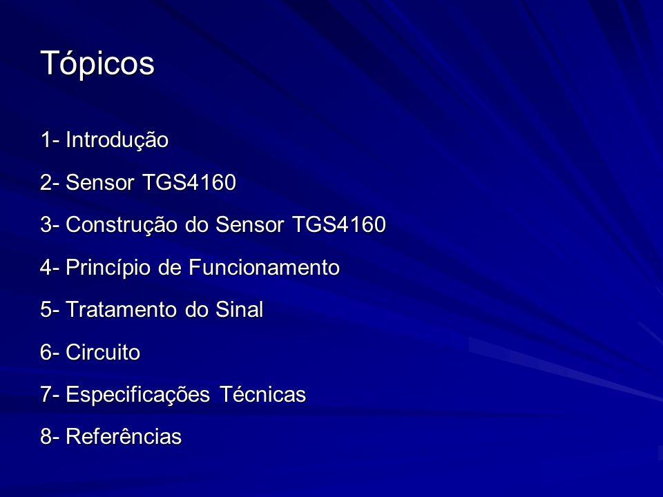 Tópicos 1- Introdução 2- Sensor TGS4160