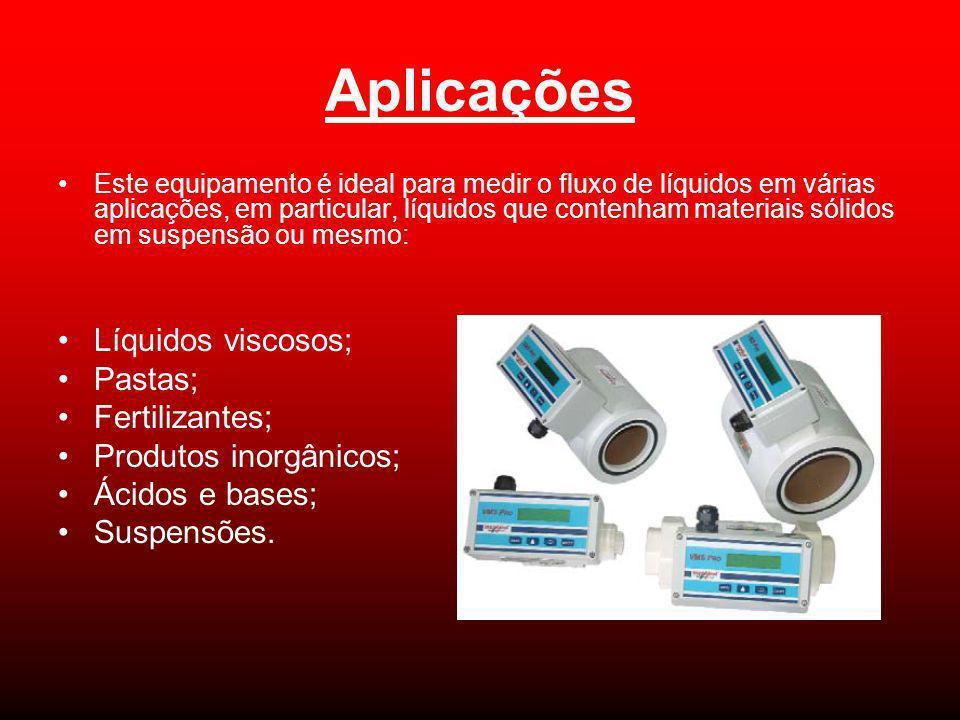 Aplicações Líquidos viscosos; Pastas; Fertilizantes;