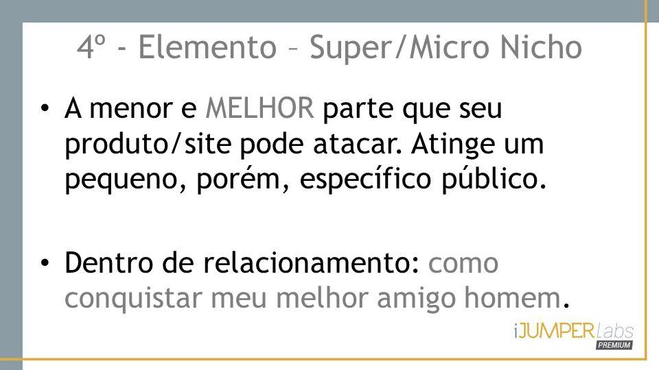4º - Elemento – Super/Micro Nicho