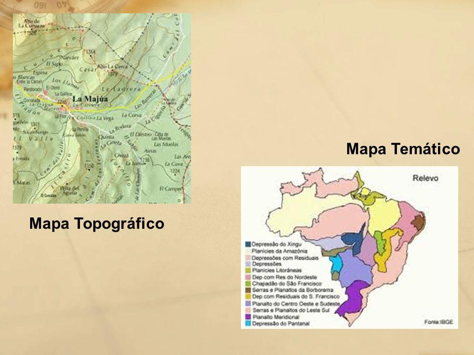 Mapa Temático Mapa Topográfico